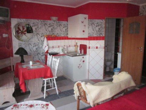 apartramemt czerwony-aneks kuchenny