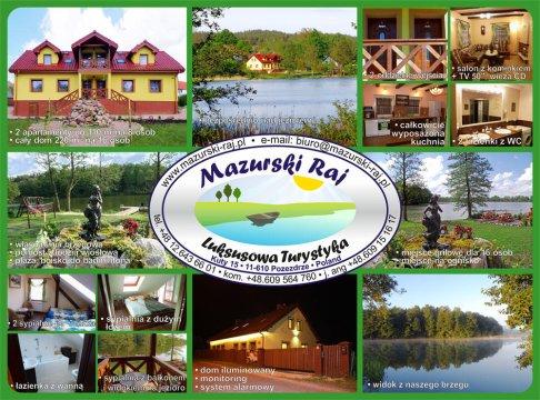 Mazurski Raj - widokówka - Mazurski Raj - Luksusowa Turystyka | apartamenty nad jeziorem | prywatna plaża