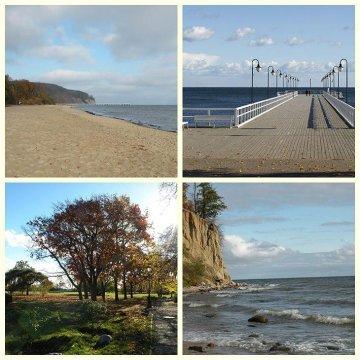 okolice klifu orłowskiego, molo i plaży w odległości 15 min. spacerem od kwatery