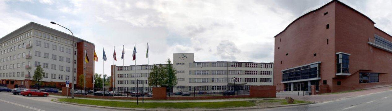 Panorama WSFiZ od ul. Jagienki