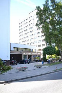 Wejście do Hostelu Mokotów Warszawa