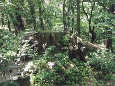 Młyn Wielisław - ruiny zamku i schroniska na szczycie Wielisławki