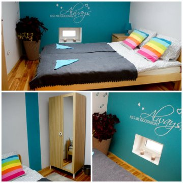 Pokój dwuosobowy ze wspólną łazienką i kuchnią dla czterech pokoi. - T&T Hostel and Apartments
