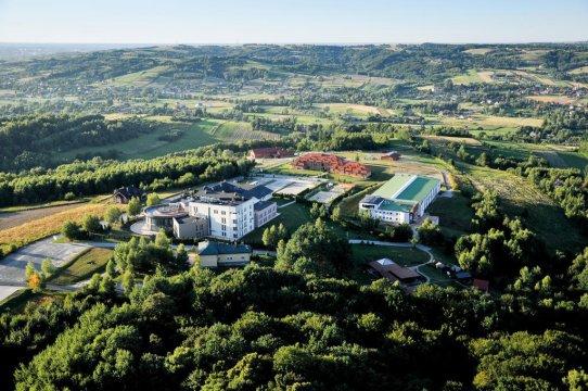 Widok z lotu ptaka - Centrum Turystyki i Rekreacji WSIiZ