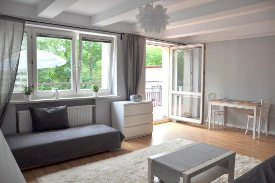 salon z wyjściem na taras - Gdynia apartament z tarasem przy plaży