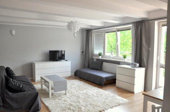 salon: sofa 2-os. + tapczan - Gdynia apartament z tarasem przy plaży
