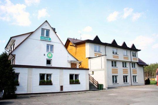 Budynek - Pensjonat Zacisze - grill, staw rybny, las, plac zabaw | Pokoje w centrum Wdzydz