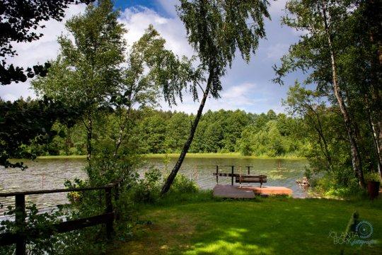 Jezioro Niedźwiadek - Pensjonat Zacisze - grill, staw rybny, las, plac zabaw | Pokoje w centrum Wdzydz