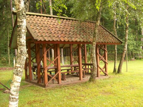 Wiata do grilowania - Domek drewniany