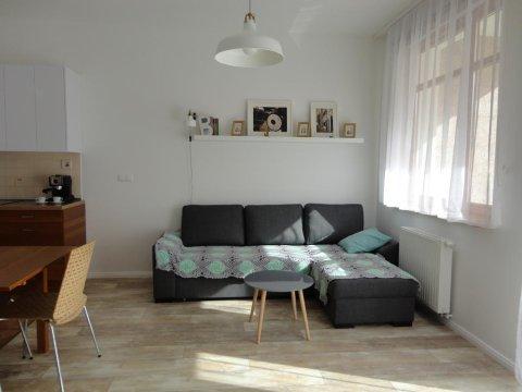 salon - Apartament 80 metrów od morza z dużym słonecznym balkonem