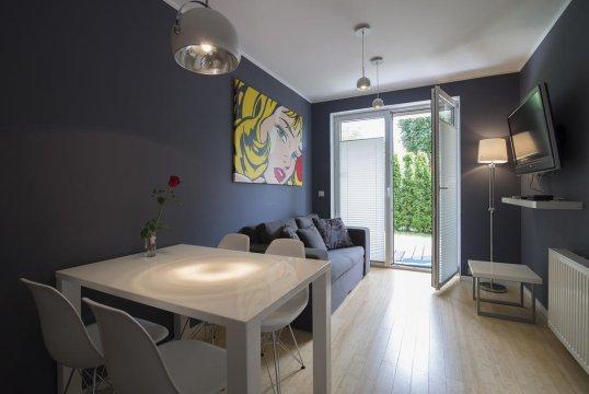Pokój dzienny - Apartament nad morzem Jastrzębia Góra