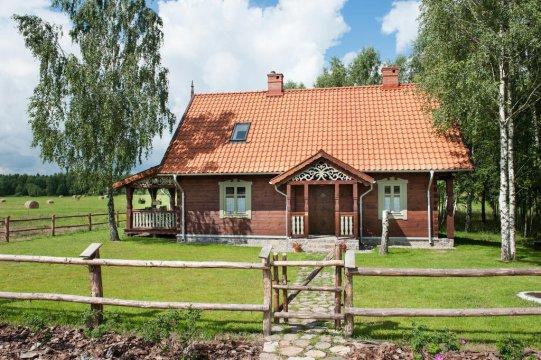Dom od frontu - MAZURYchillout-piękny dom z bala