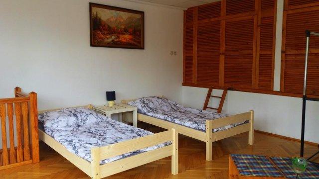 salon na górze, możliwość połaczenia łóżek w jedno łoże małżeńskie