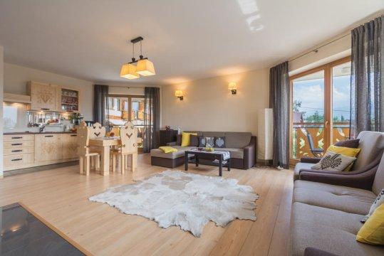 aneks kuchenny - Apartament Tatrachata - Studio z balkonem i kominkiem idealny dla dwojga