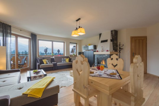 Tatrachata-studio - Apartament Tatrachata - Studio z balkonem i kominkiem idealny dla dwojga