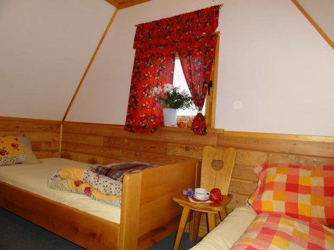 sypialnia w Małym Domku 2os.