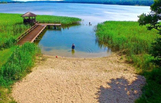 plaża - ⛵️DOM, DOMEK i APARTAMENTY nad jeziorem Narie, plaża, las