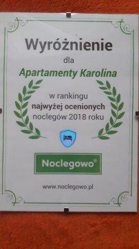Nagroda portalu - Apartamenty Karolina