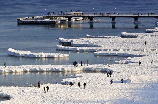 Molo zimą