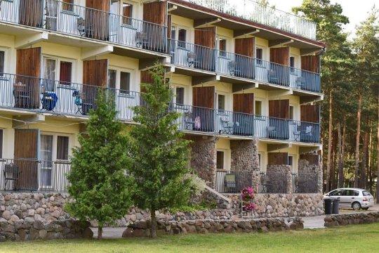 budynek hotelowy - Ośrodek Vantur. Uniejów, Zbiornik wodny Jeziorsko, i Zoosafari Borysew