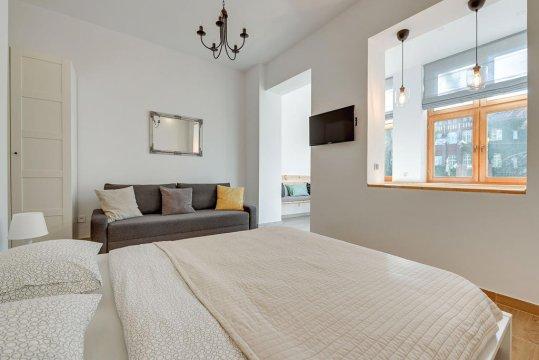 Kivi apartament sypialnia