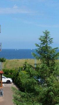 widok z balkonów na morze