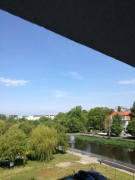 Widpk z okna na Parsętę