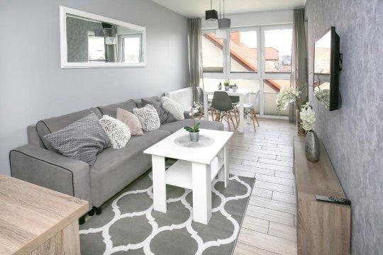 Salon - Nowoczesny apartament 800m od plaży