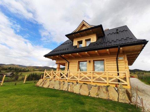 Nowe domki w góralskim stylu, w spokojnym miejscu z pięknymi widokami.