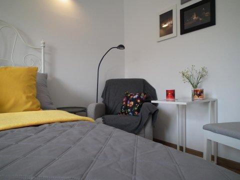 Pokój 2-osobowy - Apartament dwupokojowy Przy Lesie (6-osobowy), dla rodzin i nie tylko