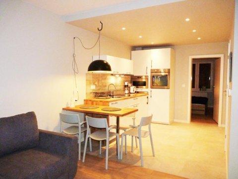 Kuchnia - Apartament z Liskiem. Taras z widokiem na góry