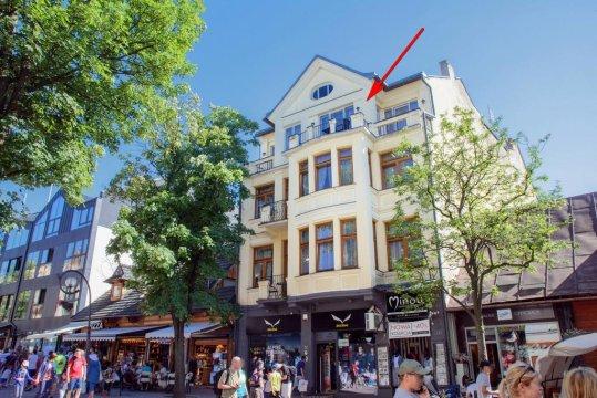 Apartament Krupówki 36/8. Góralski styl, wspaniałe widoki na Giewont