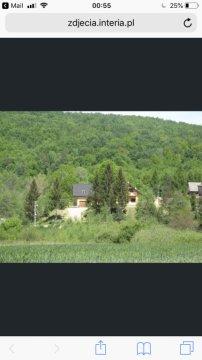 Domki wsrod lasow Beskidu Niskiego