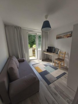 Salon/ sypialnia 1 - Apartament Morski | 3 pokojowe mieszkanie 500m od plaży