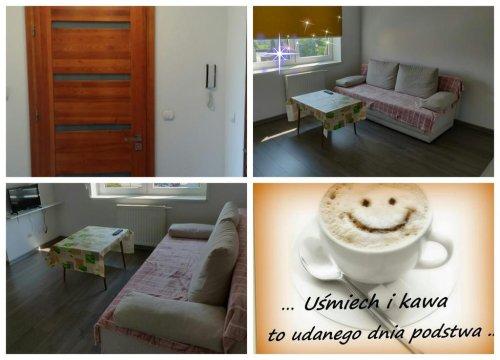 sofa w pokoju dziennym-dodatkowa opcja spania ,telewizor,okna z roletami