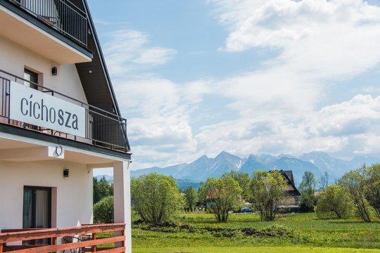 Villa CichoSza widok  - Villa Cicho Sza z sauną i placem zabaw