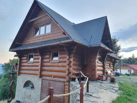 Chata na Łysinie. Góralski dom z bala dla 4 osób. Z dala od zgiełku
