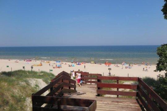 Plaża 800 m od naszego objektu - Dom Gościnny Koja