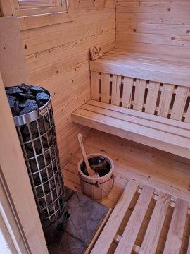 wnetrze sauny - Jaśkowy Młyn