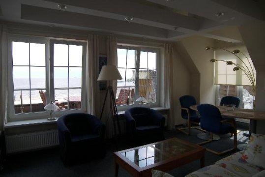 Pokój dzienny z widokiem na morze - Sopot Maison Baltique