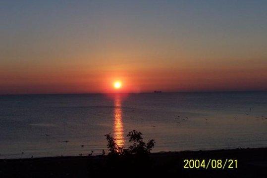 Wschód słonca - widok z tarasu