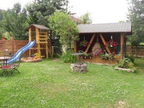 plac zabaww ogrodzie