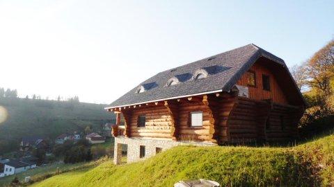 Chata Santa Claus | Domek z bali w malowniczych Górach Sowich