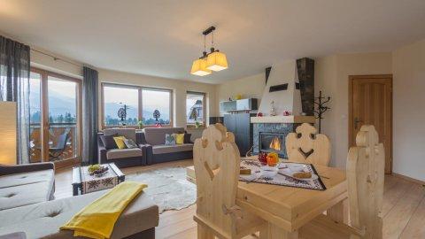 Apartament Tatrachata - Studio z balkonem i kominkiem idealny dla dwojga