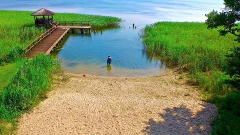 ⛵️DOM, DOMEK i APARTAMENTY nad jeziorem Narie, plaża, las