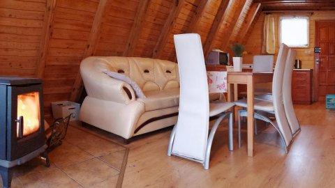 Domek z kominkiem, domki drewniane Wisła