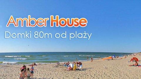 Amber House domki 80 m do plaży