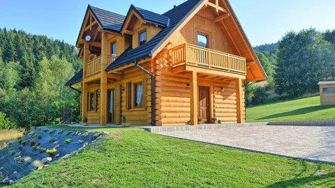 Miodowa Chata | Drewniany dom z widokiem na góry z dala od zgiełku