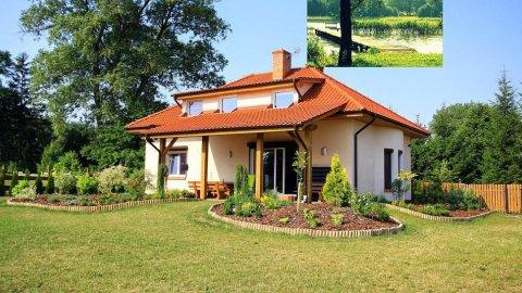 Villa Grunwald - Duży dom nad jeziorem z pomostem