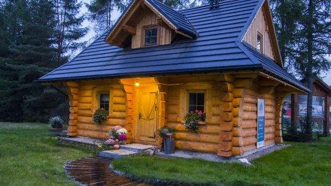 Dom z drzew - beskidzki dom z bali w Istebnej